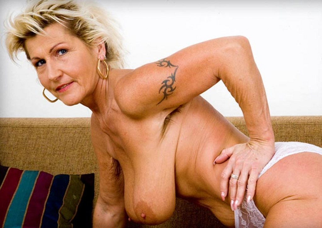 Blonde mature slim